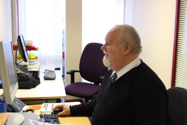 Mark working at Living Options Devon