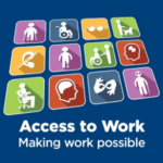 Access to Work logo with text Making Work Possible