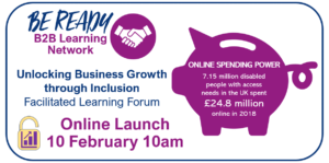 Infogram of invite to the launch event on 10 February 2020