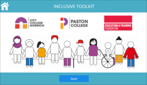 Home page of City College Norwich's Inclusive Toolkit for Employers