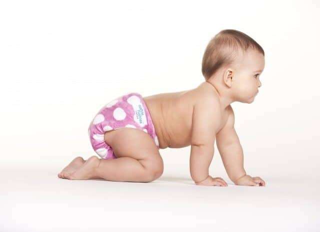 A baby crawling