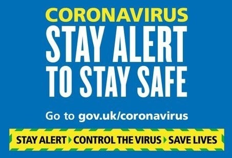 """a government poster about coronavirus stating """"Stay alert to stay safe"""""""
