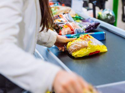 a supermarket checkout