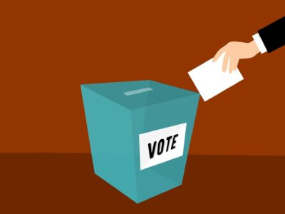 an illustration of a ballot box