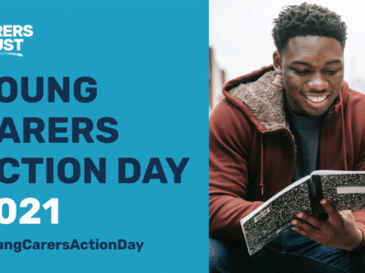 a poster for Young Carers Action Day