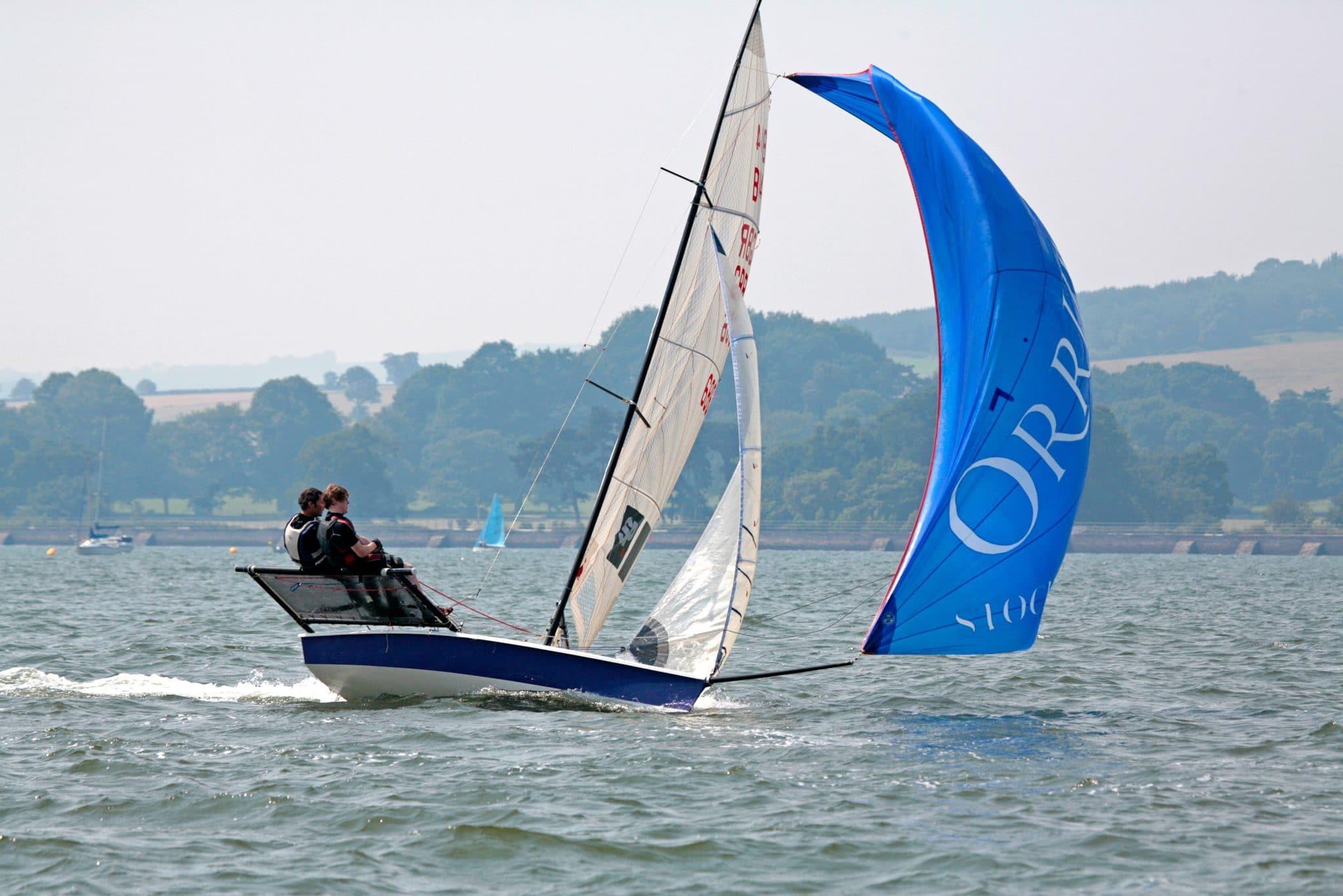 Sailing boat on the Exe Estuary