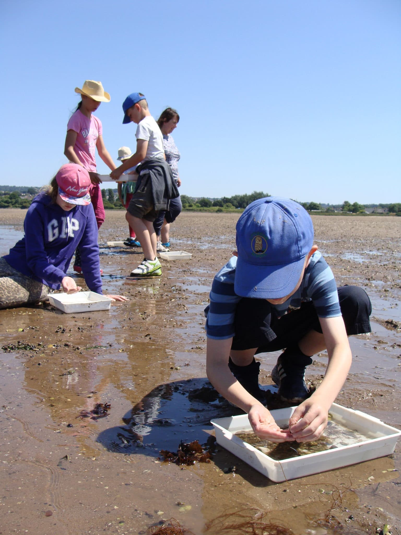 Image 6a: Outdoor education session at Exmouth LNR