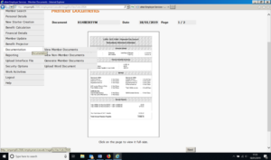 accessing member documents menu