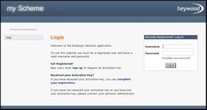forgotten password link