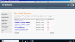 member documents screen