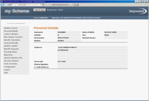 member personal details screen