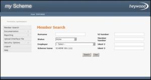 member search screen
