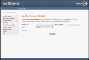 verify members details screen