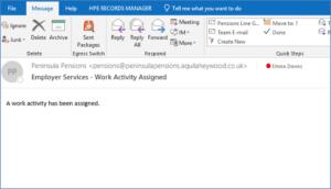 Work activity notification