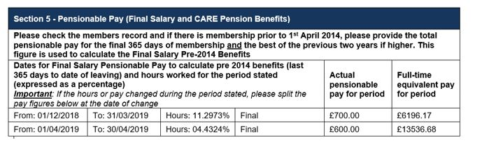section 5 pensionable pay chart casual member