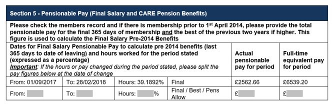 section 5 pensionable pay somerset fund