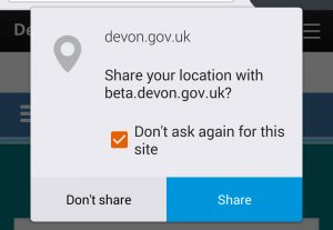 Using location finder on Android